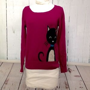 Bongo Plum Cat Sweater